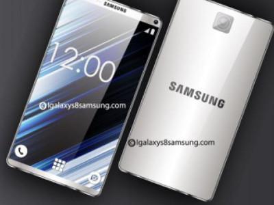Image du Samsung Galaxy S8 de dos et de face
