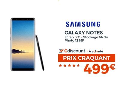 samsung Galaxy Note 8 promo Cdiscount