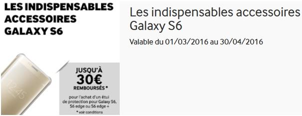 [Bon plan] Samsung rembourse jusqu'à 30€ sur votre coque ou étui Galaxy S6