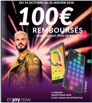 Alcatel A5 LED en promo chez SOSH
