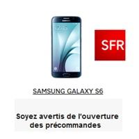 Alerte pour précommandes du Samsung Galaxy S6 chez SFR !