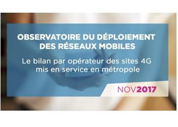 Anfr bilan réseau 4G au 01 novembre 2017