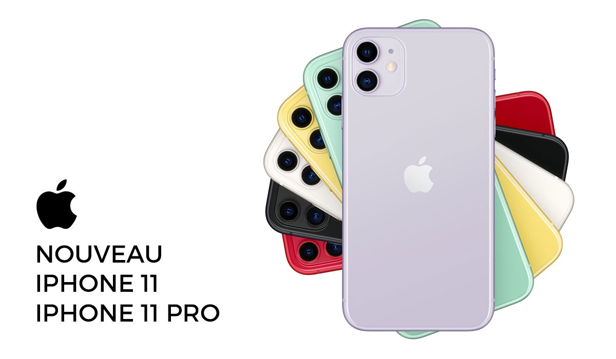les coloris de l'iphone 11