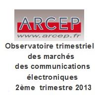 Arcep chiffres mobiles 2eme trimstre 2013