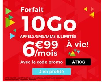 Nouvelle série limitée 10Go à 6.99 euros à VIE chez Auchan Telecom