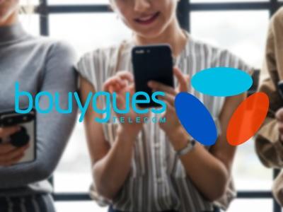 personnes qui utilisent des smartphones avec le logo bouygues télécom