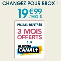 3 mois offerts sur les chaines canal avec la bbox de. Black Bedroom Furniture Sets. Home Design Ideas