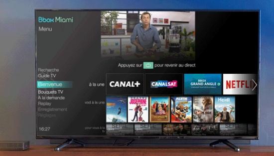 la bbox miami, nouvelle interface TV