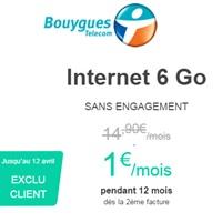 Cadeau pour les abonnés Bouygues : Internet Nomad 6Go à 1€ pendant 1 an