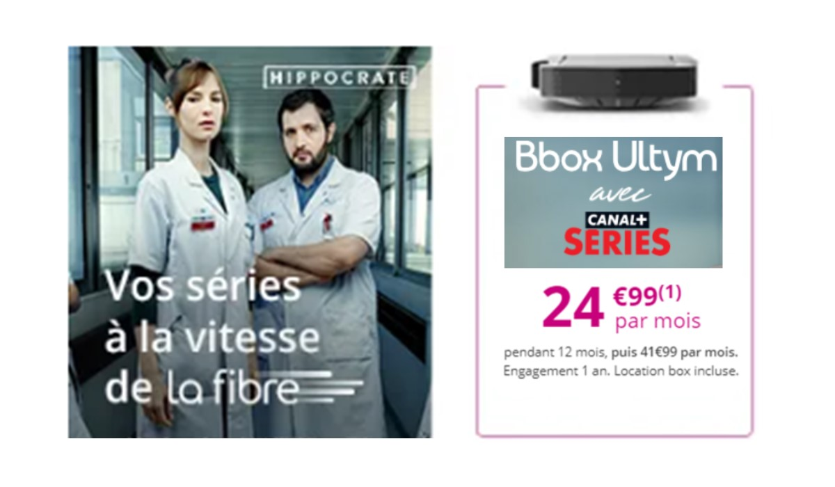 Bon plan Internet Bouygues Telecom : la BBOX Ultym en promo à 24.99 euros avec le bonus Canal+ Séries