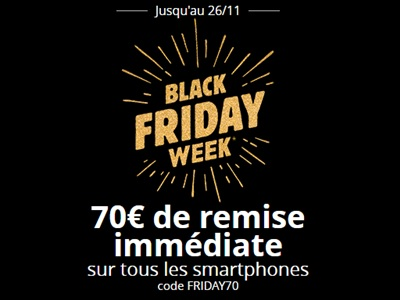 Opération Friday Week chez Bouygues Telecom : 70€ de remise sur tous les smartphones