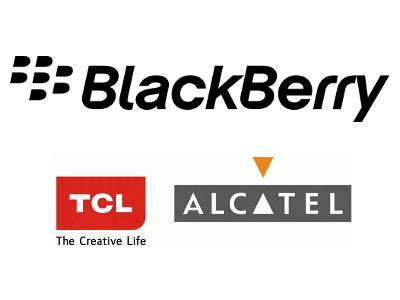 Logo de la marque Blackberry et téléphone noir Blackberry