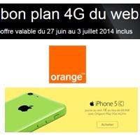 Bon plan 4G du Web Orange : L'iPhone 5C 16Go à 1€