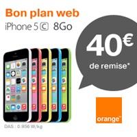Bon plan du Web Orange : L'iPhone 5C en promo avec  un forfait bloqué M6 Mobile !