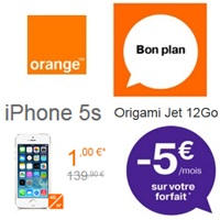 iphone 5s en promo chez orange