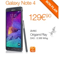Bon plan du Web: Le Samsung Galaxy Note 4 en promo avec un forfait Orange !