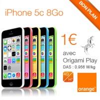 Bon plan du Web : L'iPhone 5C 8Go en promo à 1€ avec un forfait Orange !