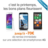 Bon plan Orange : Jusqu'à -70€ sur le Galaxy Note 4, Galaxy S5, Nexus 6, Lumia 930… !