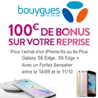 bouygues telecom 100 de bonus sur votre reprise pour l achat d un iphone 6s 6s plus galaxy. Black Bedroom Furniture Sets. Home Design Ideas
