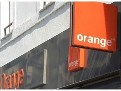 logo orange d'une boutique physique