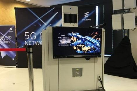 equipement ericsson pour  tester les antennes 5g avec bouygues Telecom