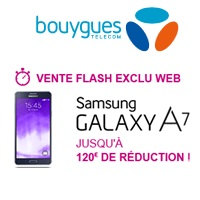 galakxy a7 remise exceptionnelle  bouygues telecom