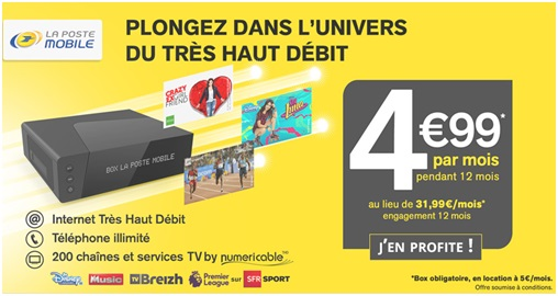 BOX TV de la poste en vente privée à 4.99€