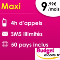 budget mobile maxi forfait
