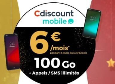 Nouvelle série limitée 100Go à 6 euros chez Cdiscount Mobile