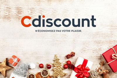 Logo Cdiscount et déco Noël