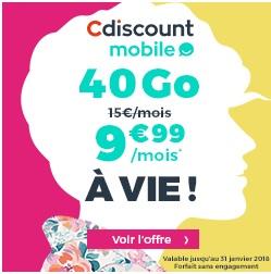 Offre exceptionnelle forfait 40go à 9.99€ par mois à VIE