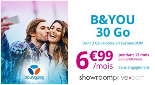 Une vente privée B&You 30Go à 6,99€ débarque aujourd'hui et pour 5 jours !