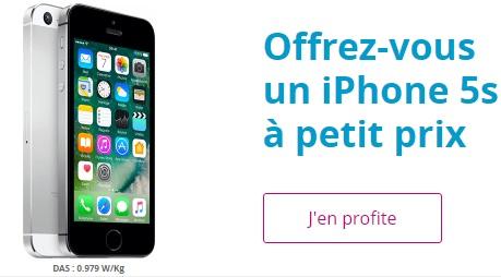 Dernière chance : l'iPhone 5s à 240 euros avec la série limitée B&You 20Go à 1.99 euros