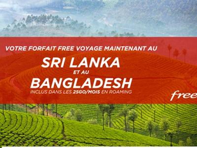 visuel free nouveaux pays sri lanka et bangladesh