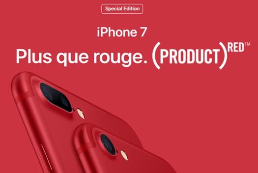 apple lance un iphone 7 rouge et un iphone se 32go et 128go. Black Bedroom Furniture Sets. Home Design Ideas