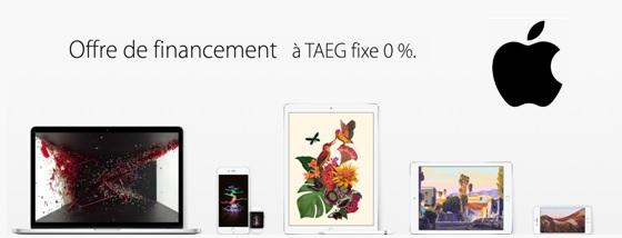 iPhone Apple : Financez votre achat en 4 fois sans frais jusqu'au 5 janvier 2016 !