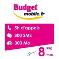 retour du forfait 5h chez budget mobile