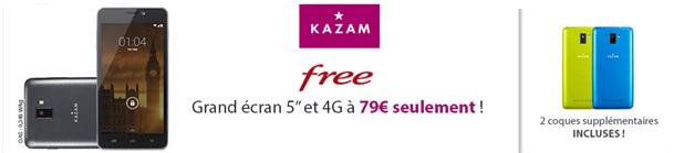 Un nouveau smartphone 4G à 79€ dans le catalogue de Free Mobile