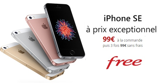 iPhone SE à prix Free