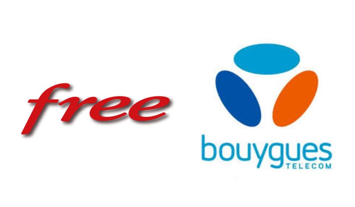 logo Bouygues telecom et Free
