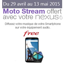 bon plan free nexux 6 moto team