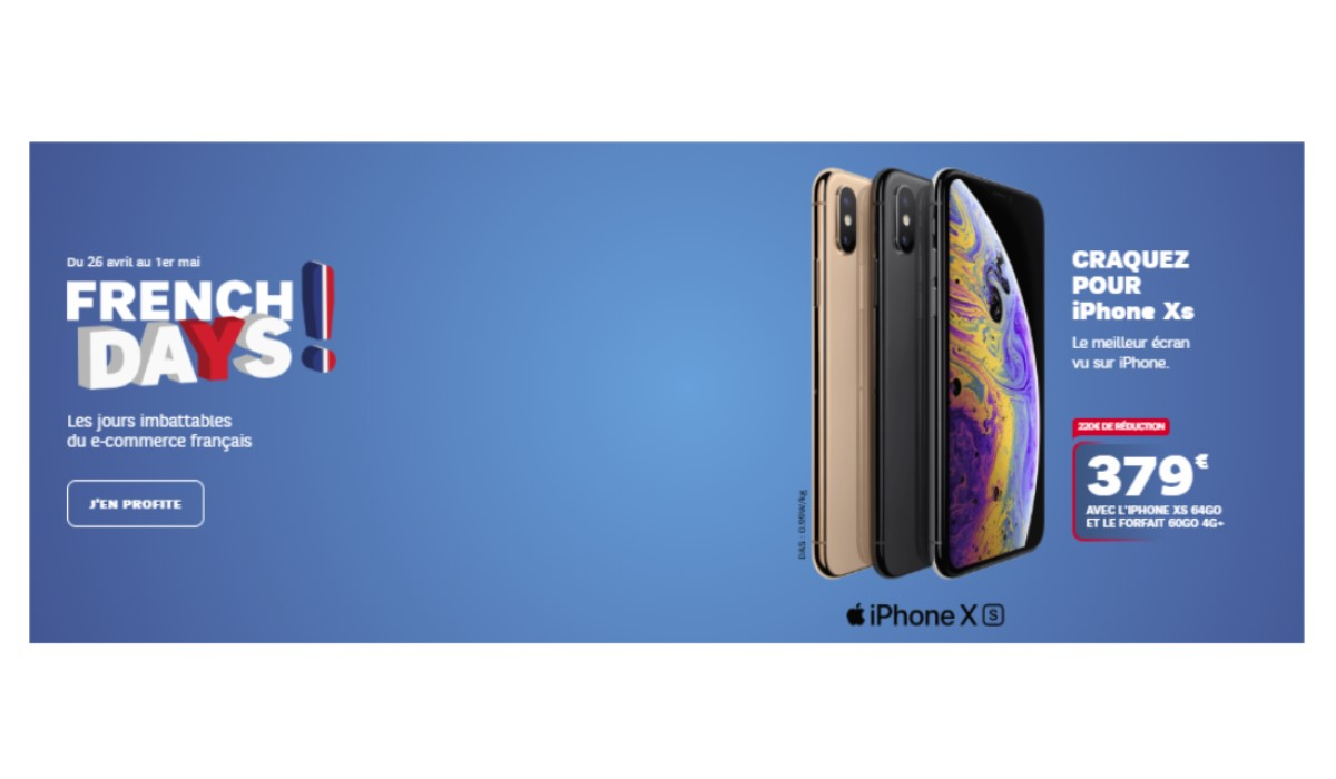 visuel french days sfr avec iphone xs