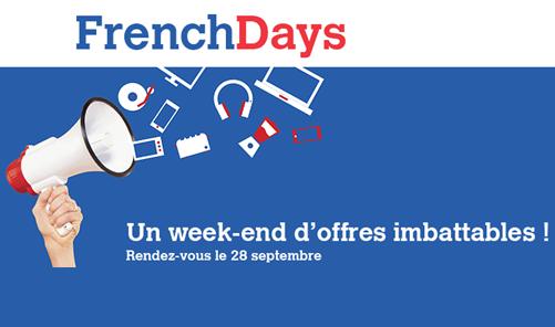 Rendez-vous le 28 Septembre pour 4 jours de folie sur les prix avec les French Days