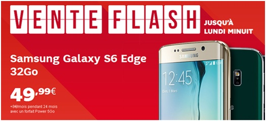 Les Samsung Galaxy S6 edge et Galaxy S6 edge+ en vente flash chez SFR