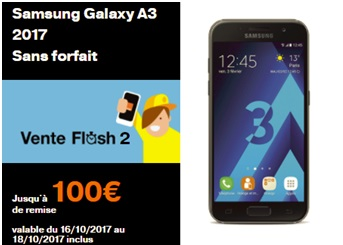 le Galaxy A3 2017 en vente flash chez Orange