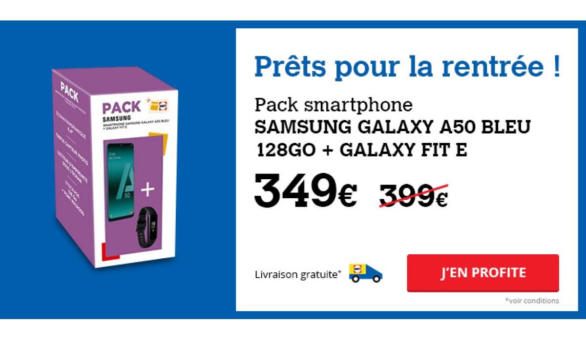 Bon plan Darty : le pack Galaxy A50 128Go + Galaxy Fit E à seulement 349 euros