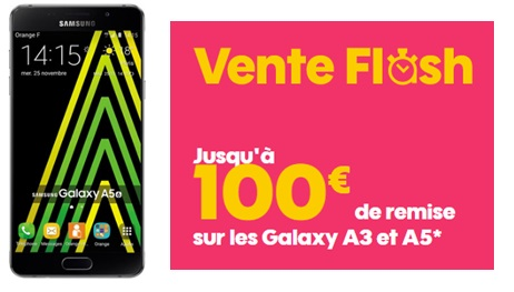 Galaxy A5 2016 : un Smartphone design doté d'un grand écran à moins de 300 euros (vente flash SOSH)
