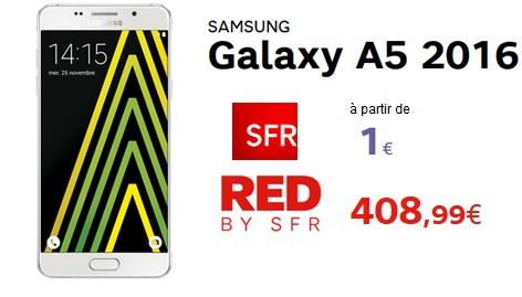 le galaxy a5 partir de 1 avec un forfait sfr et avec un forfait red by sfr. Black Bedroom Furniture Sets. Home Design Ideas