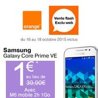 galaxy core prime ve en promo chez orange