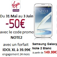 galxy note 2 virgin mobile forfait idol xl